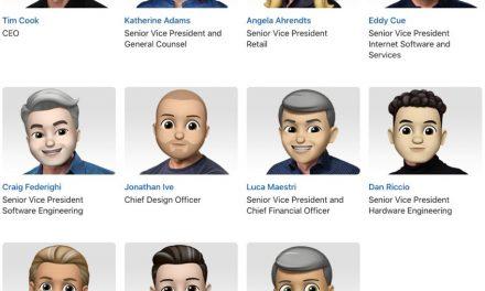 Apple украси с Memoji профилите на висшестоящите си служители